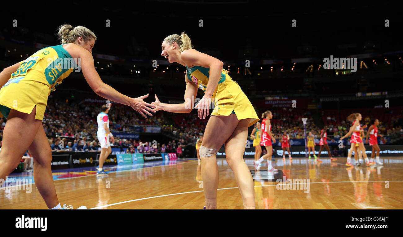Netball - 2015 Netball World Cup - Qualification Round - England v Australia - Allphones Arena - Stock Image