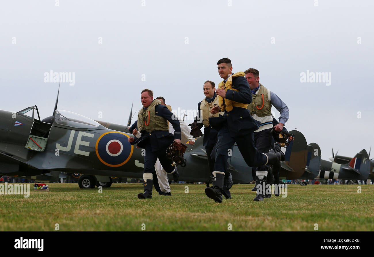 75th anniversary Battle of Britain commemorations - Stock Image