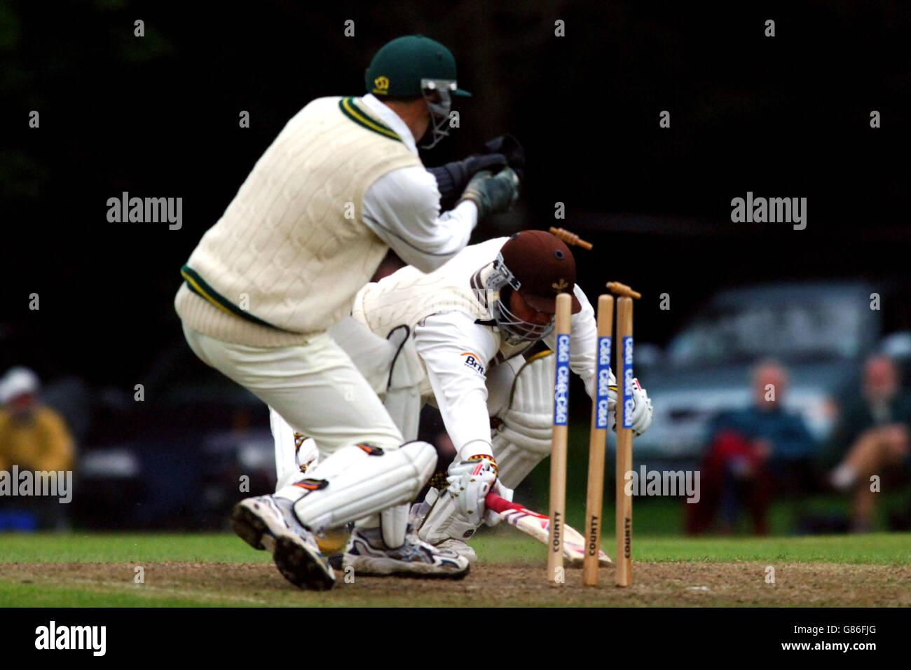 Cricket - Cheltenham & Gloucester Trophy - First Round - Staffordshire v Surrey - Leek - Stock Image