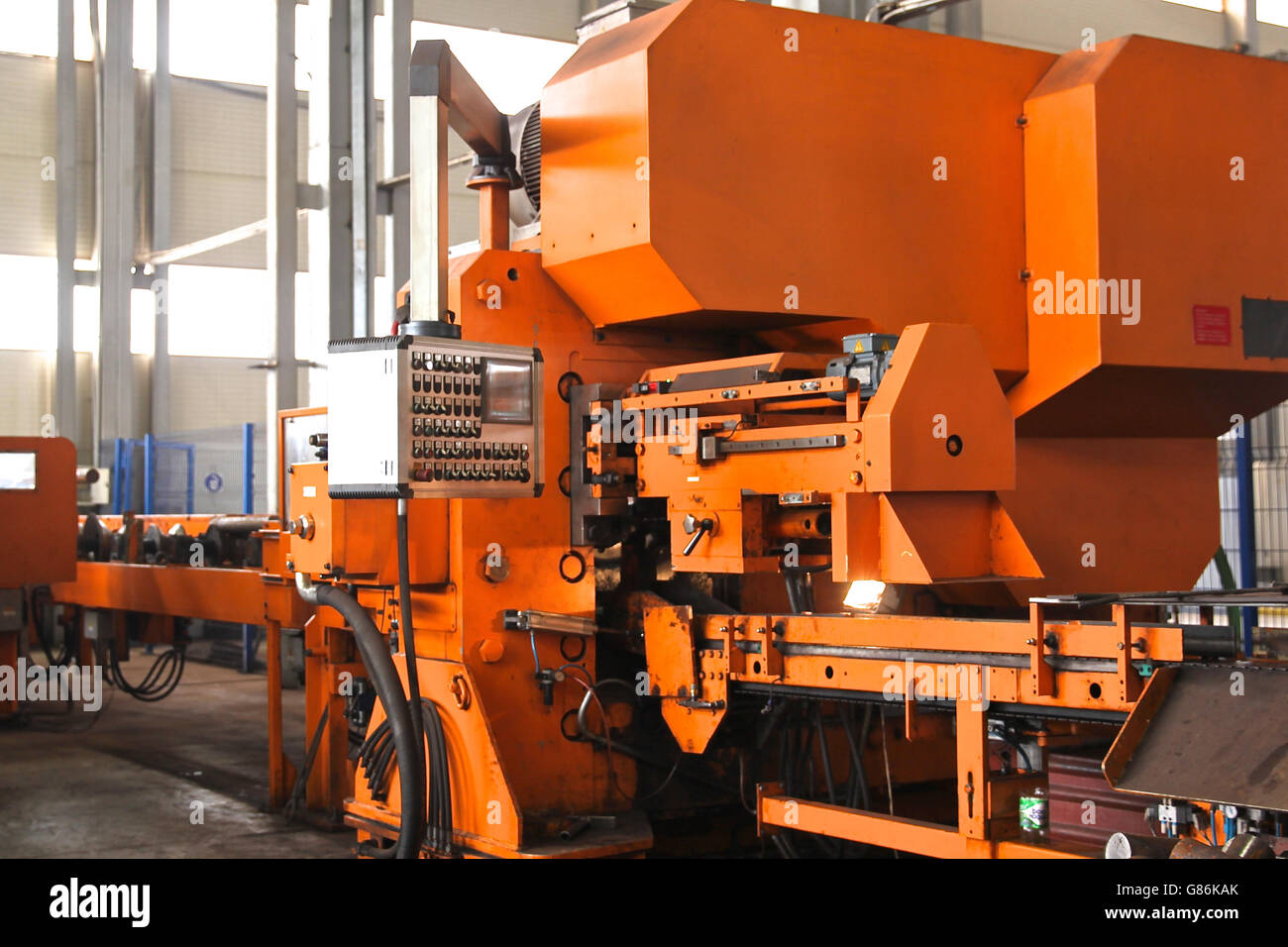 elements of machines for cold metal cutting - Stock Image