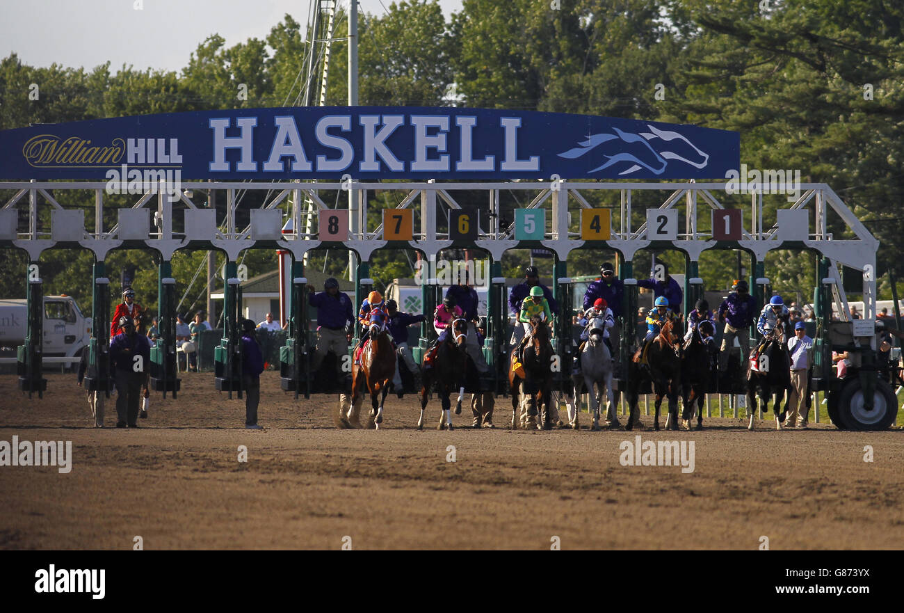 Horse Racing William Hill Haskell Invitational Monmouth Park