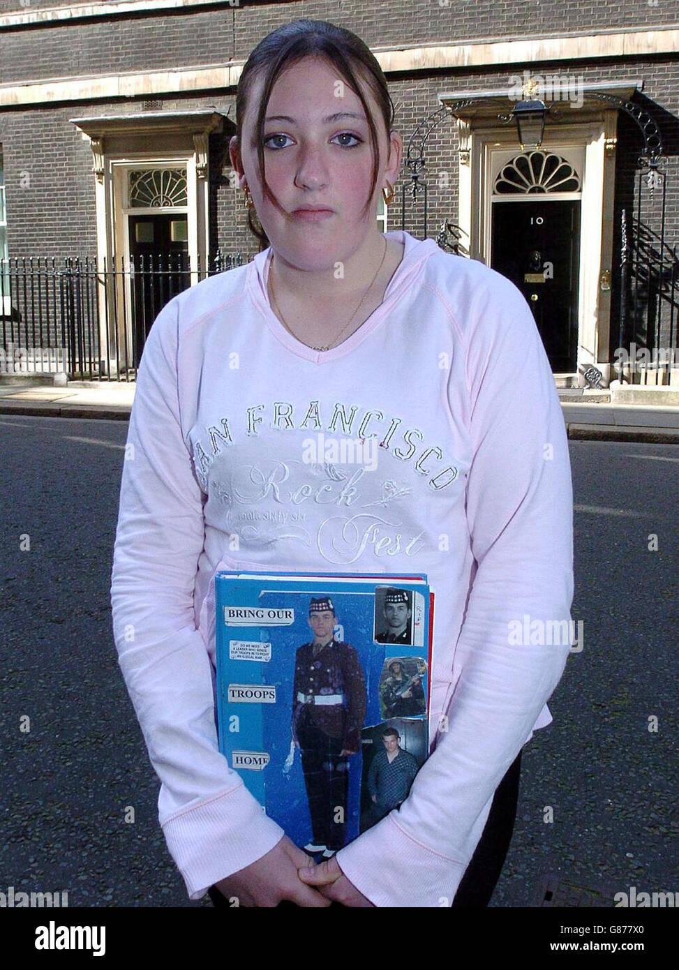 Iraq War Legal Action - 10 Downing Street Stock Photo