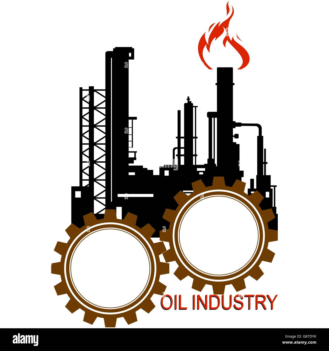 Oil Refinery Cut Out Stock Images Pictures Alamy Power Plant Diagram Circuit The Illustration On A White Background Image