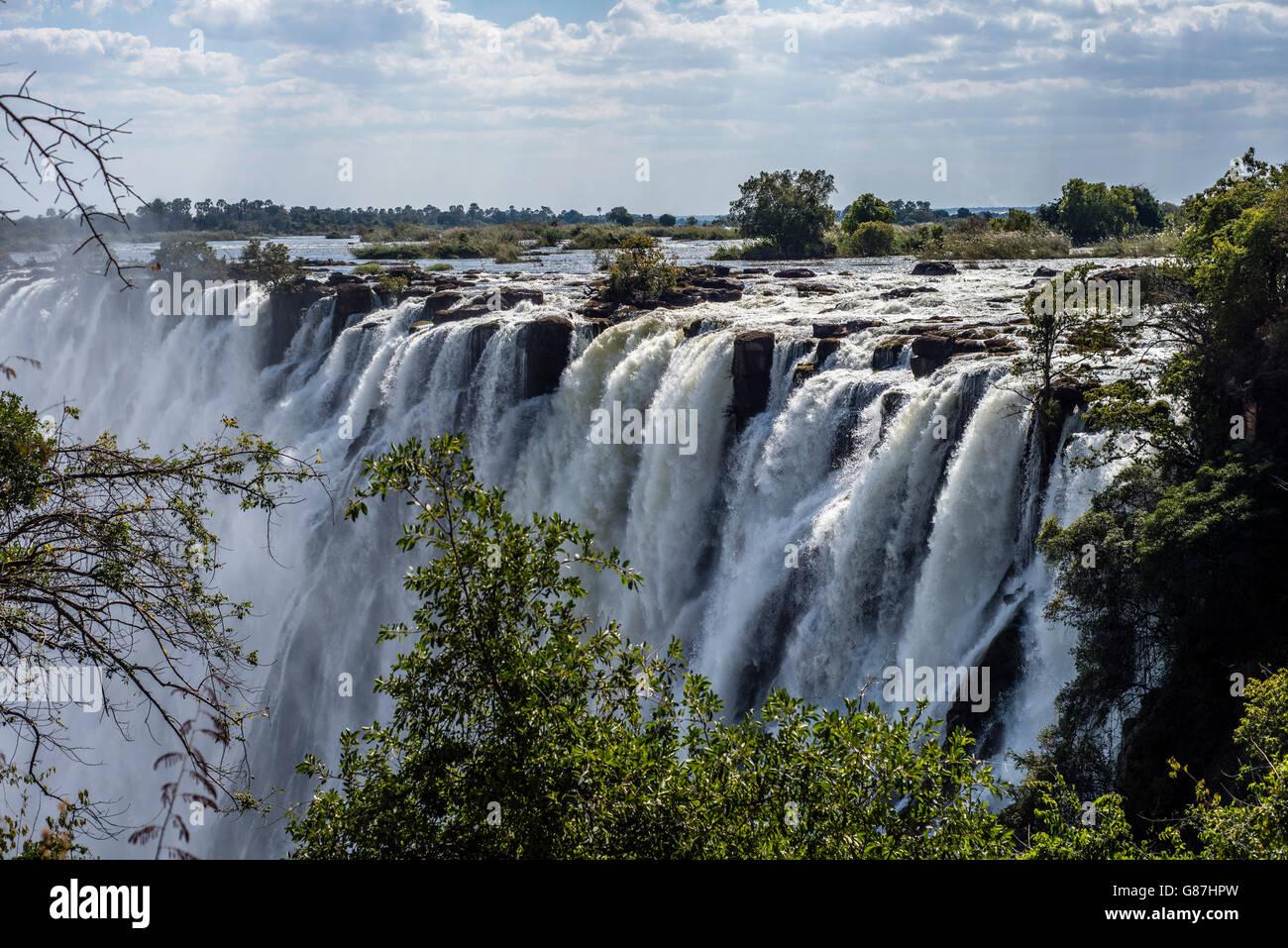 Victoria Falls, Livingstone, Zambia - Stock Image