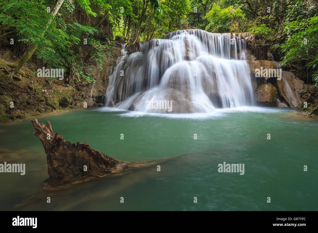 Hua Mae Kamin waterfall, Kanchanaburi, Thailand - Stock Image