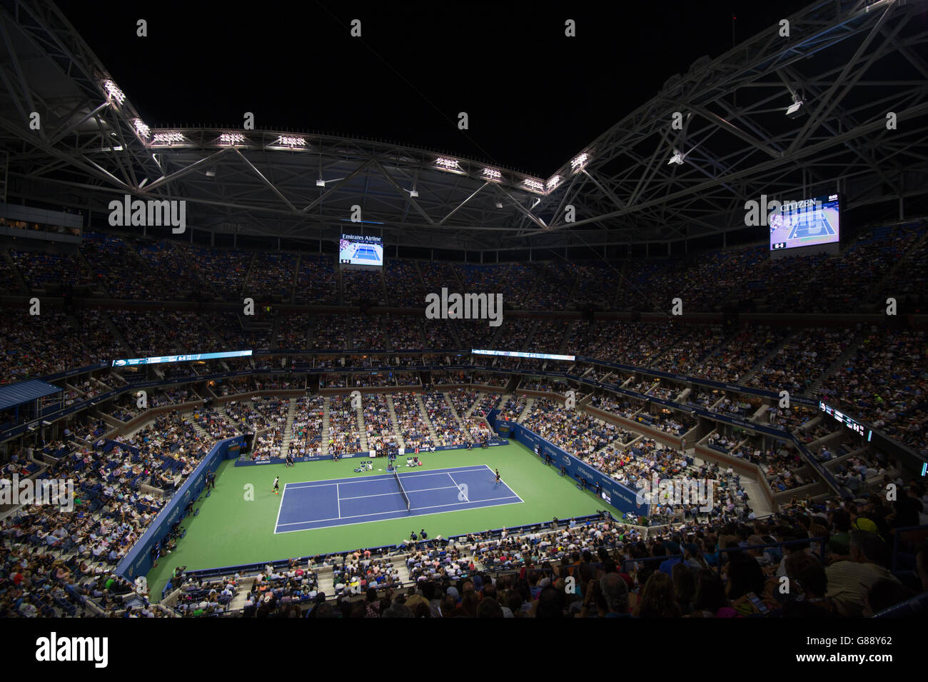 Tennis - 2015 US Open - Day Two - Billie Jean King National Tennis Center - Stock Image