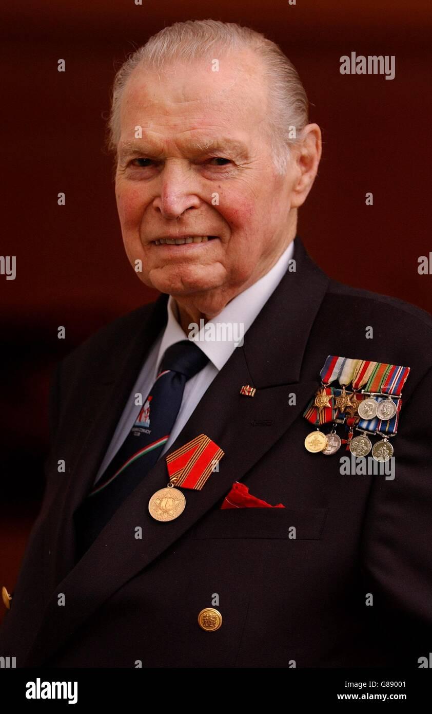 Commander Eddie Grenfell - Commemorative medal - Stock Image