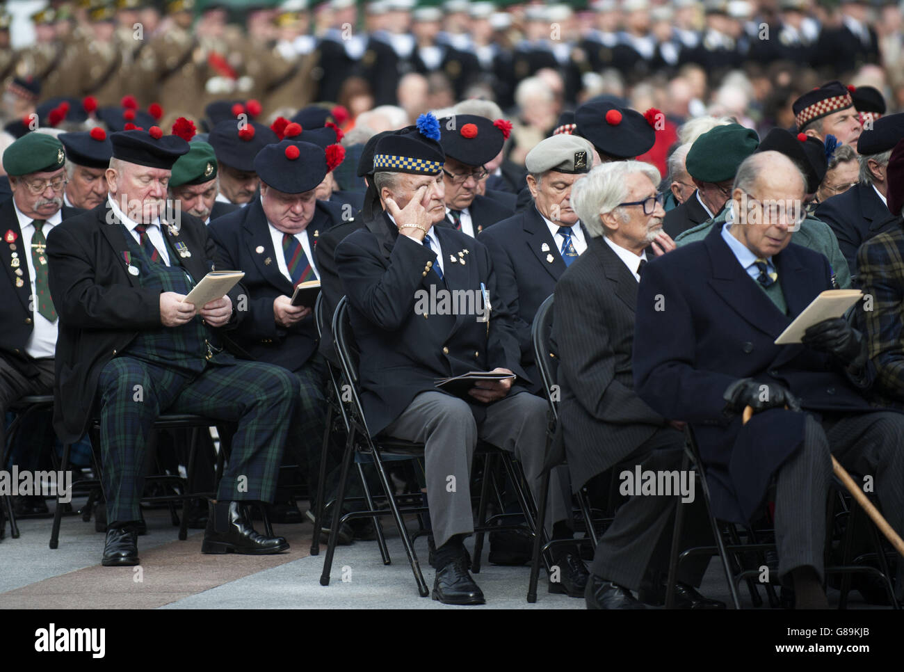 Battle of Loos centenary service - Stock Image