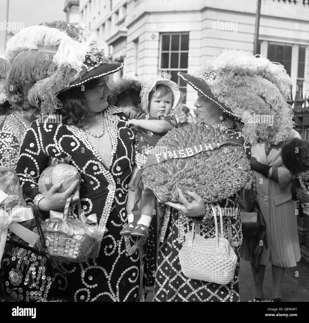 Customs and Traditions - Pearly Harvest Festival - London - Stock Image
