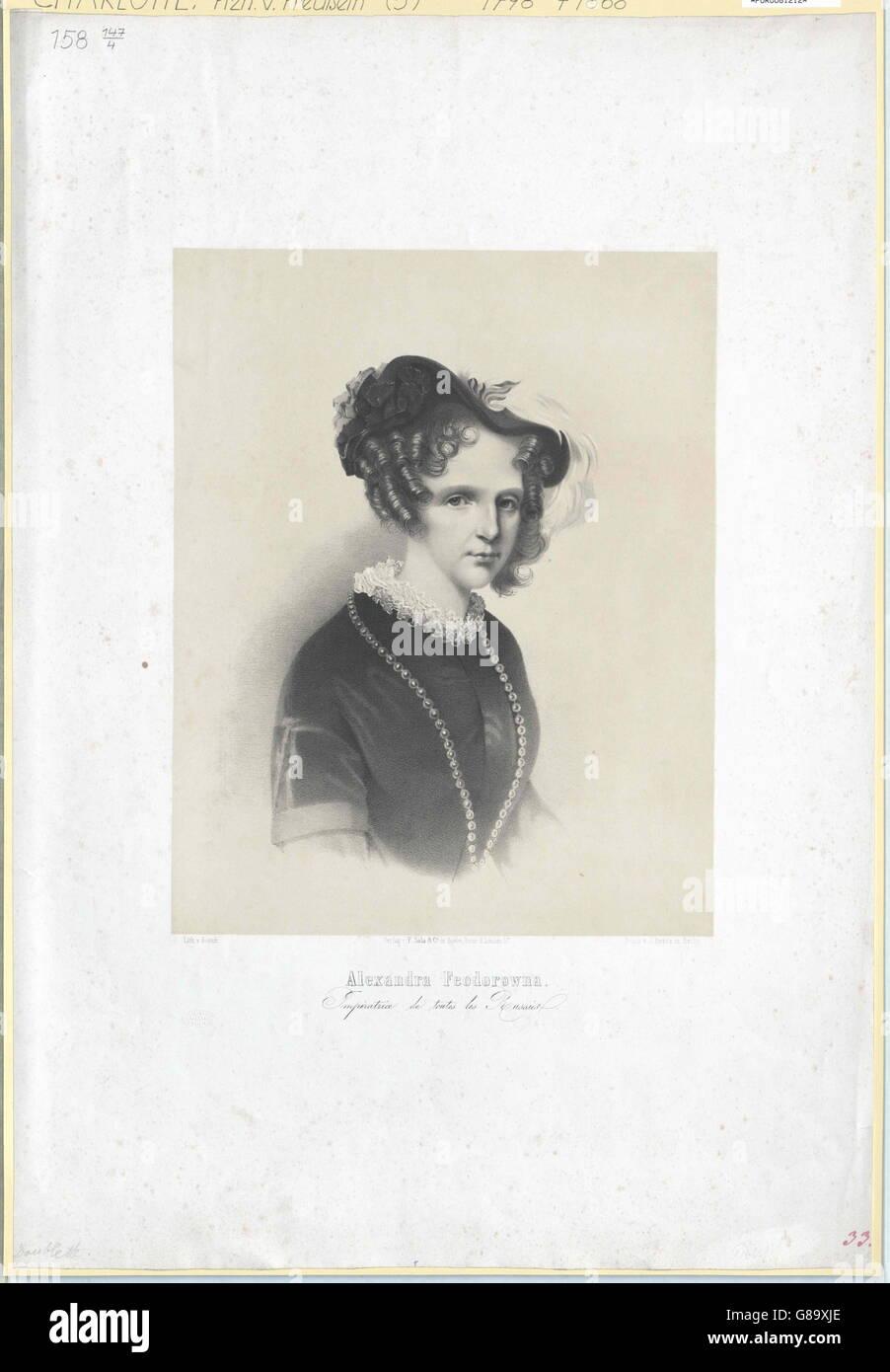 Charlotte, Prinzessin von Preussen Stock Photo