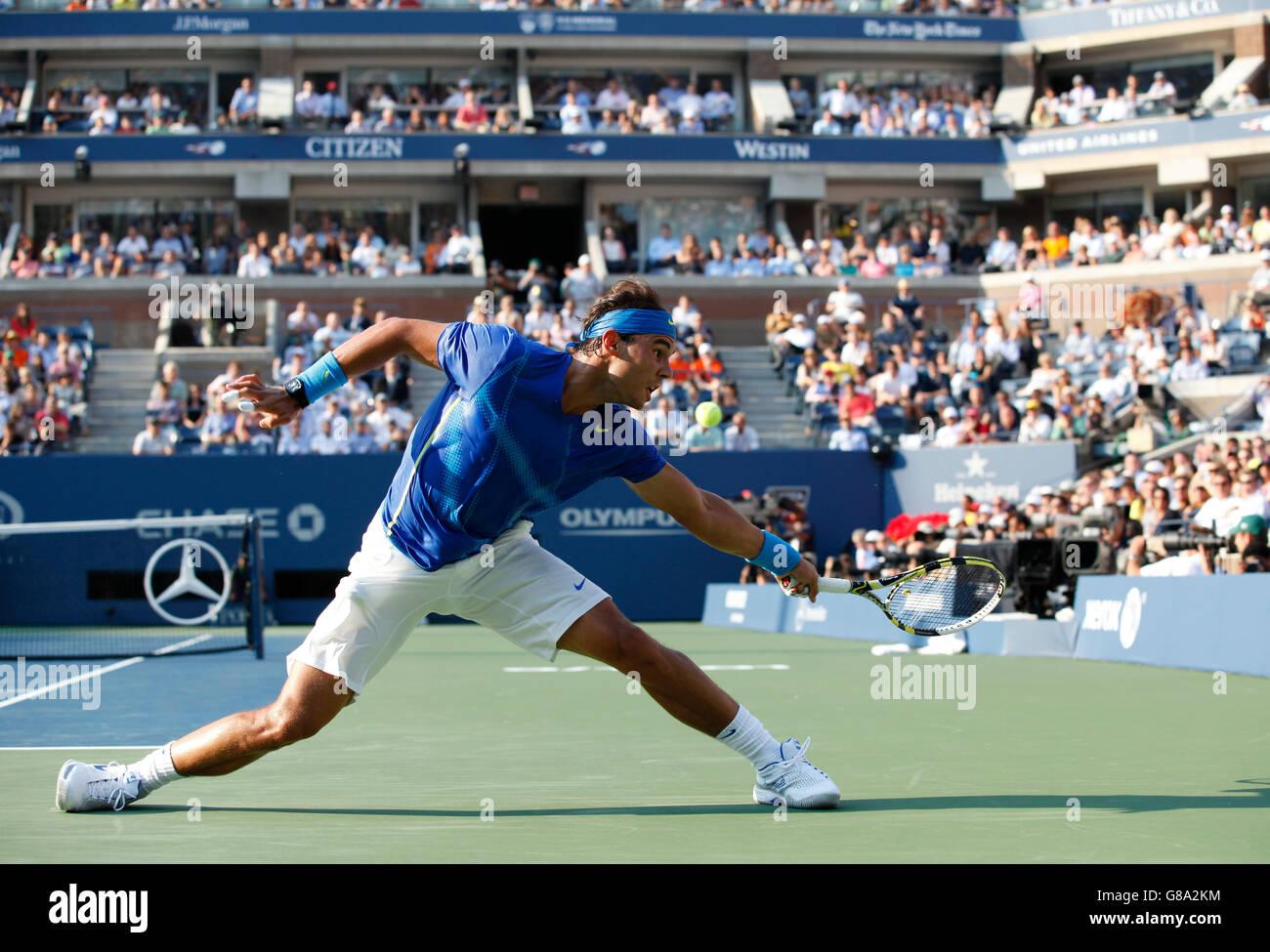 Men's final, Rafael Nadal, ESP, ITF Grand Slam tennis tournament, U.S. Open 2011, USTA Billie Jean King National - Stock Image