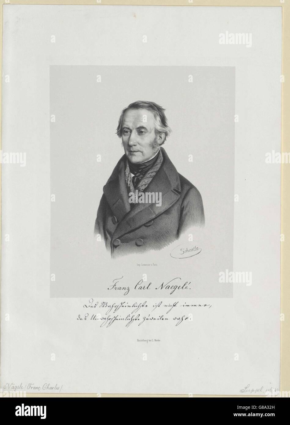 Nägelé, Franz Karl - Stock Image