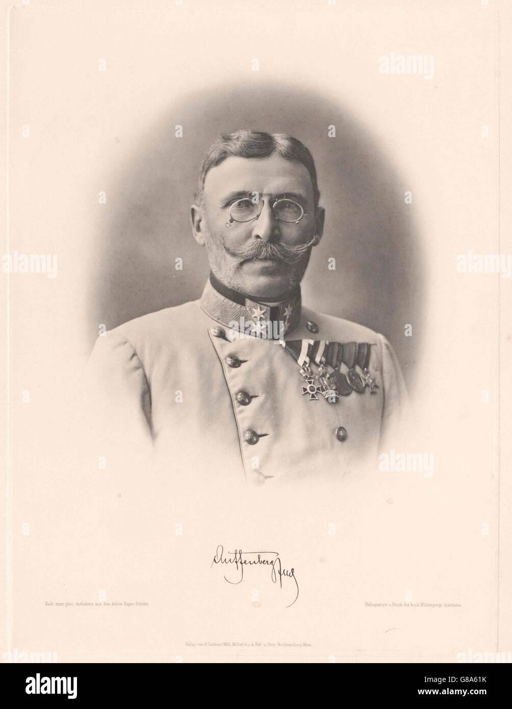 Auffenberg von Komarów, Moritz Freiherr - Stock Image