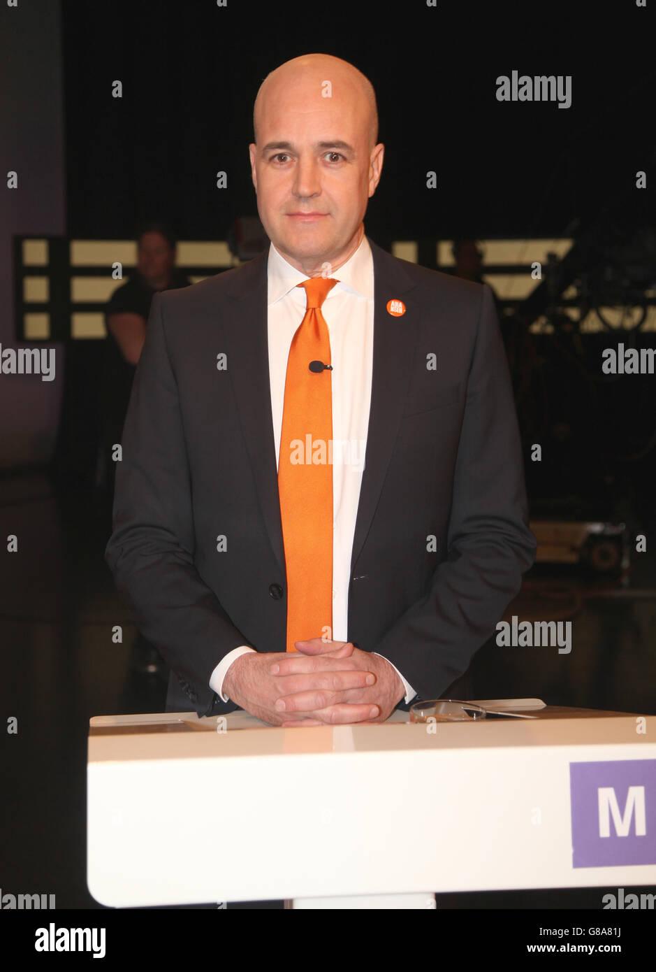 FREDRIK REINFELDT political leader - Stock Image