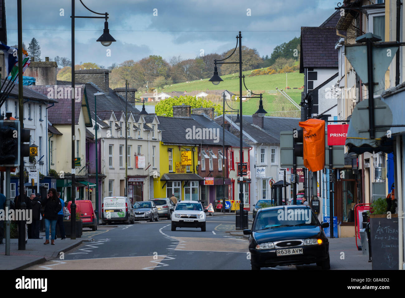 Lampeter Town Centre West Wales Stock Photos Lampeter Town Centre