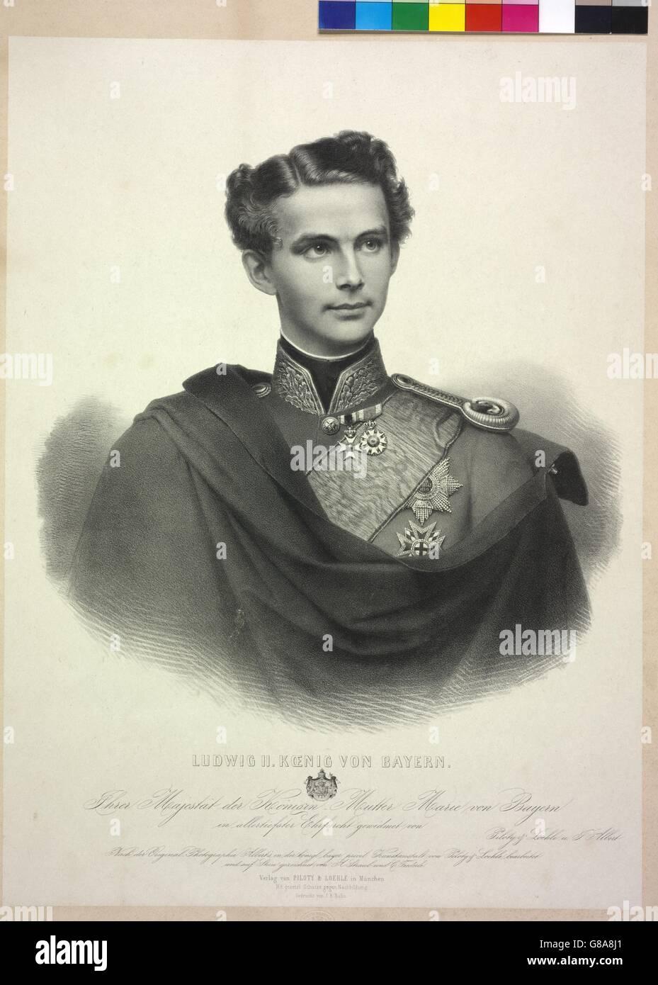 Ludwig II. Koenig von Bayern - Stock Image