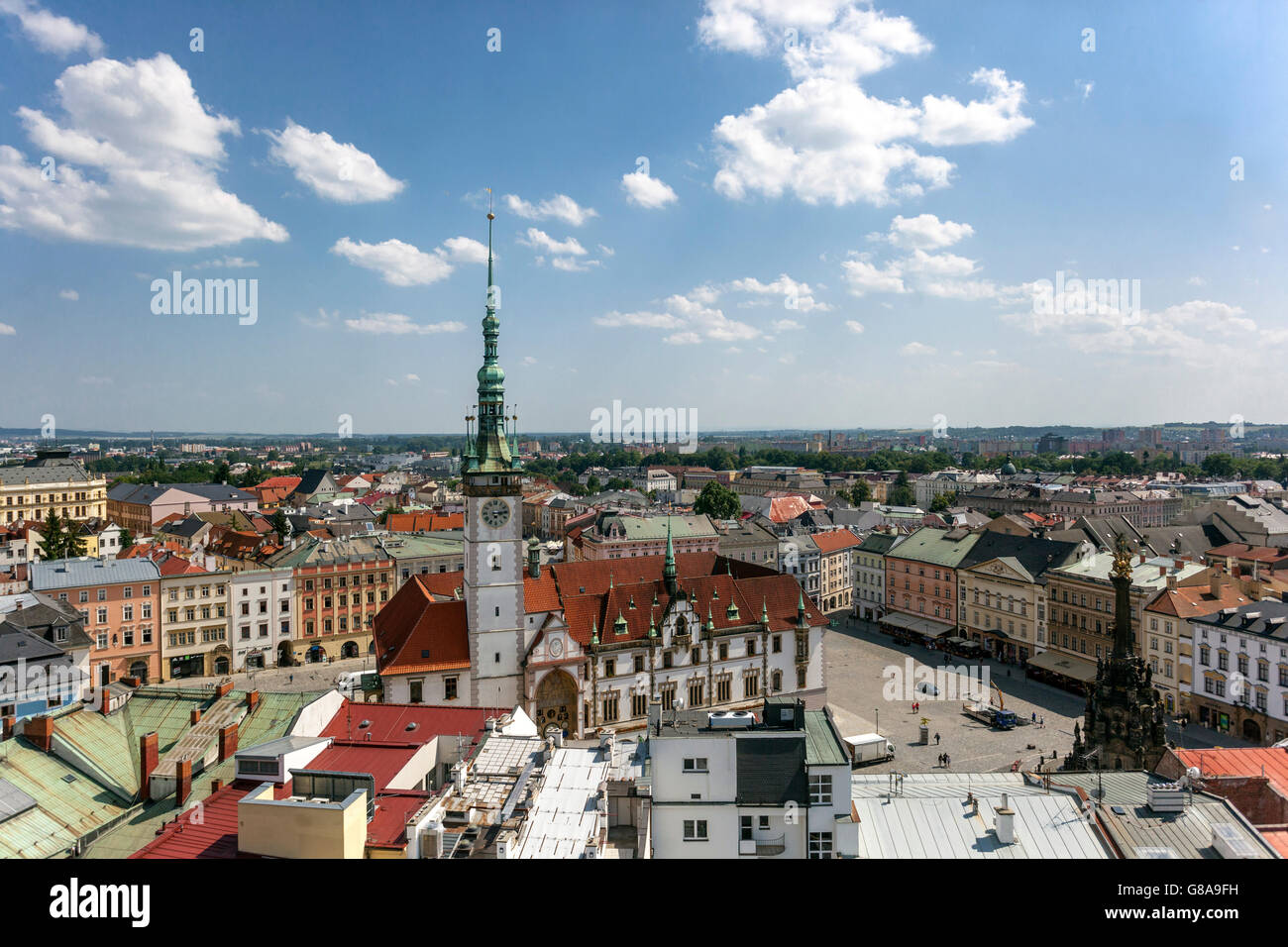 Cityscape Olomouc  Czech Republic, Europe - Stock Image