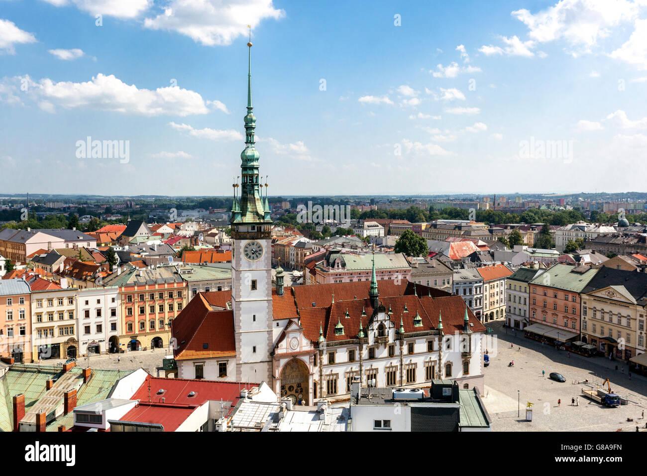 Overlooking Czech Town Olomouc, Moravia, Czech Republic, Europe - Stock Image
