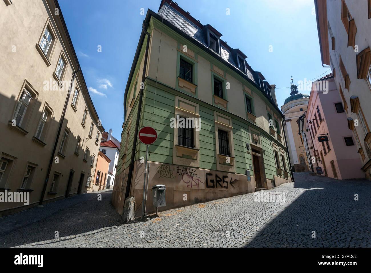Old Town streets, Olomouc Region Hana, South Moravia, Czech Republic - Stock Image