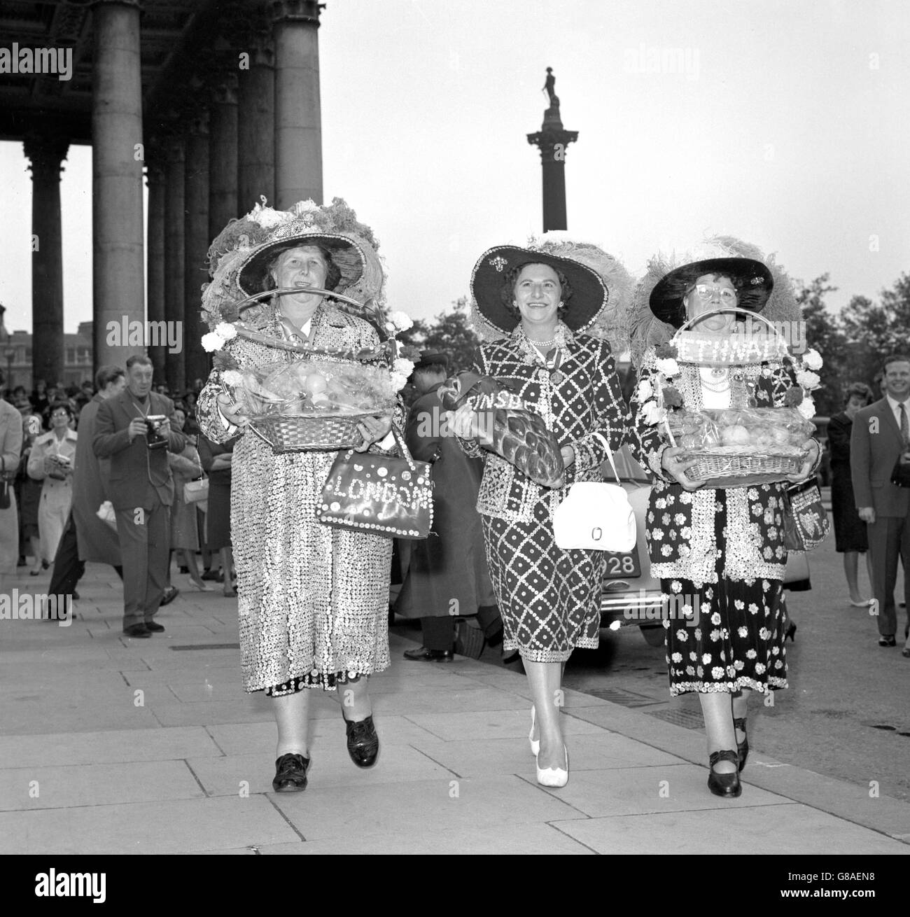 Customs and Traditions - Pearly Queens - London - Stock Image