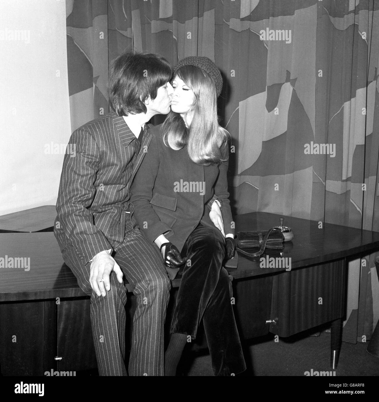 Music - George Harrison and Pattie Boyd - London - Stock Image