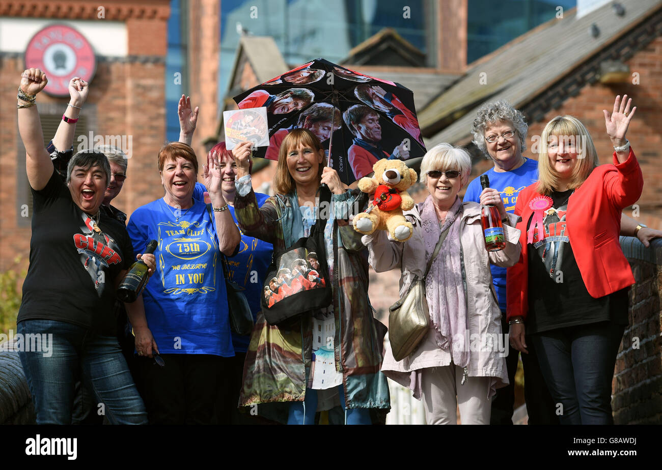 Cliff Richard 75th Birthday Tour - Birmingham - Stock Image
