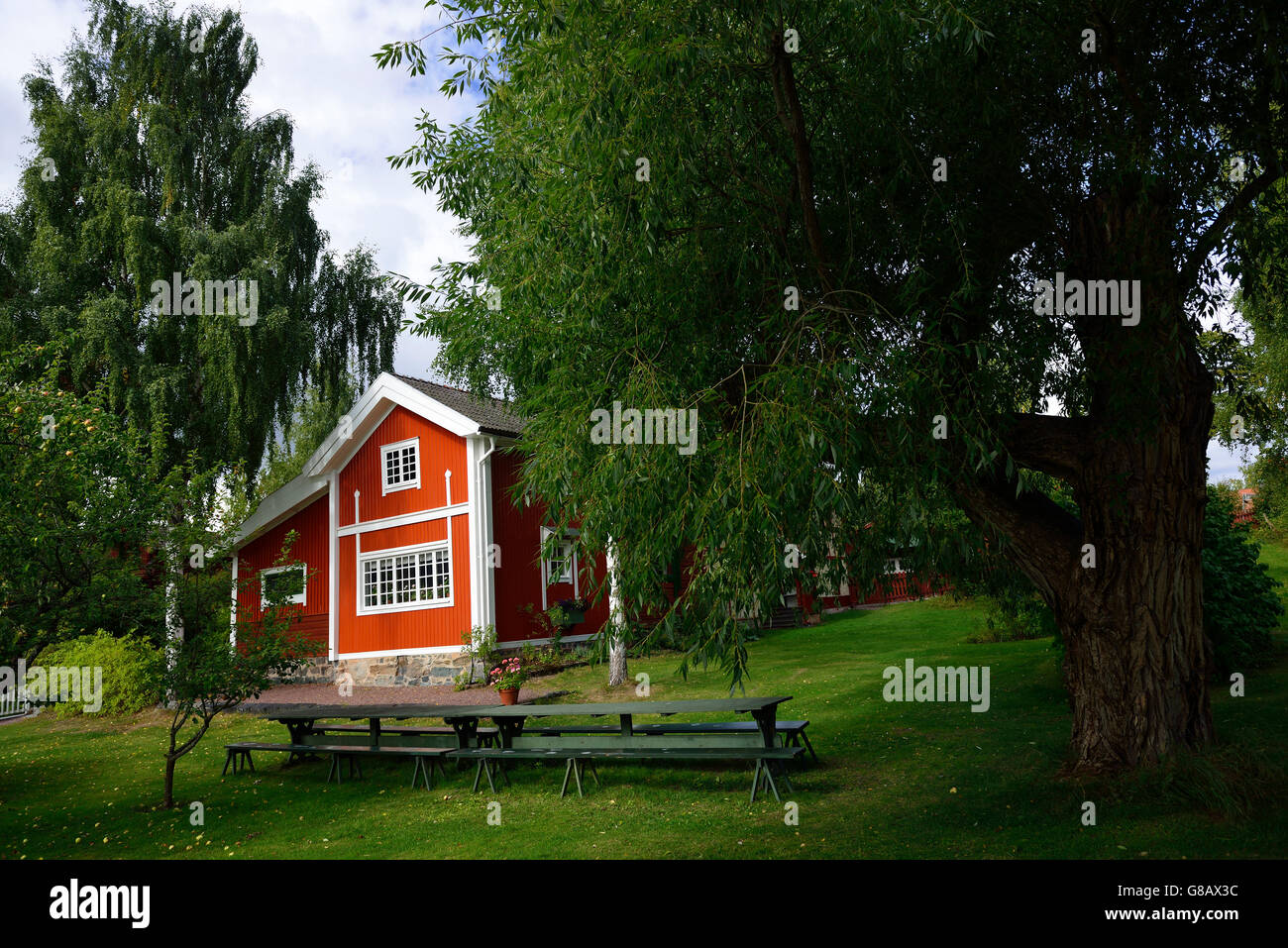residential house of the painter Carl Larsson, Sundborn, Dalarna, Sweden - Stock Image