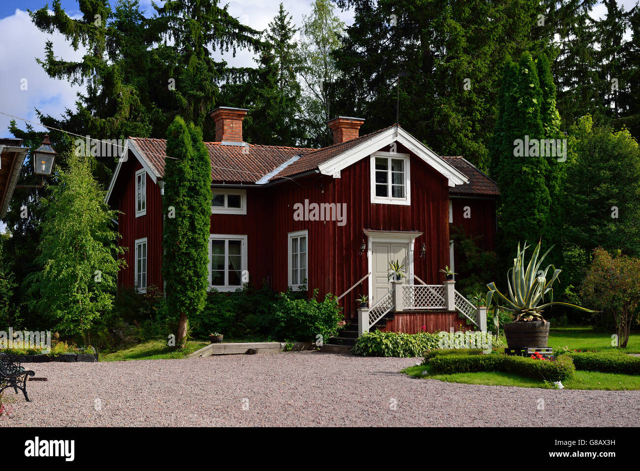 Stora Hyttnas, Sundborn, Dalarna, Sweden - Stock Image