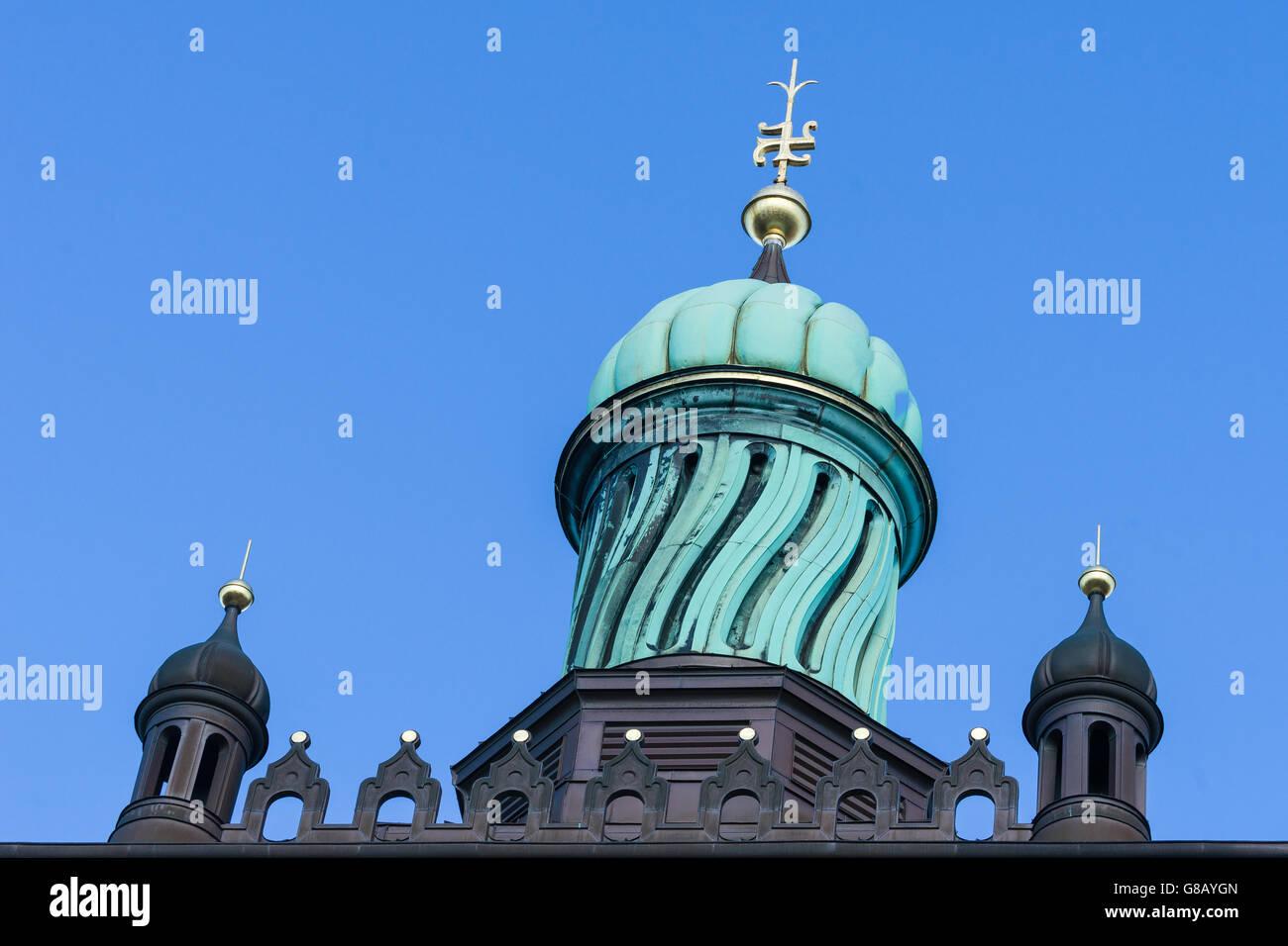 Carlsberg City in Copenhagen, Copper dome - Stock Image