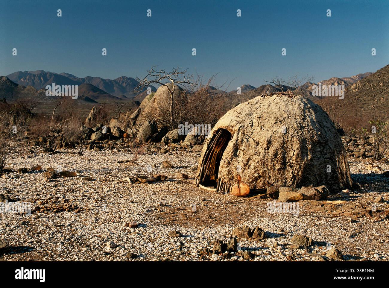 Angola, Himba hut - Stock Image