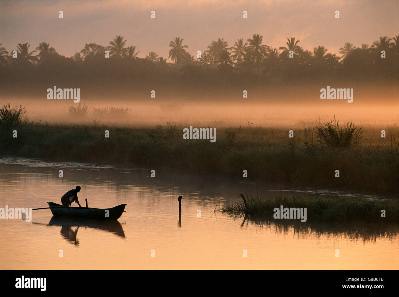 Mozambique Fisherman - Stock Image