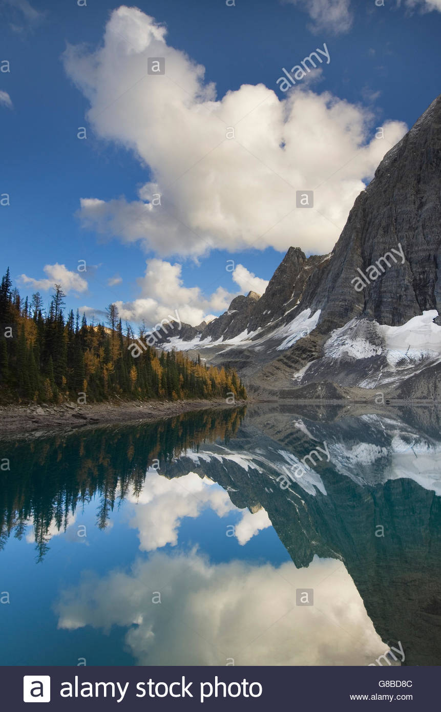 The Rockwall at Floe Lake, Kootenay National Park British Columbia - Stock Image
