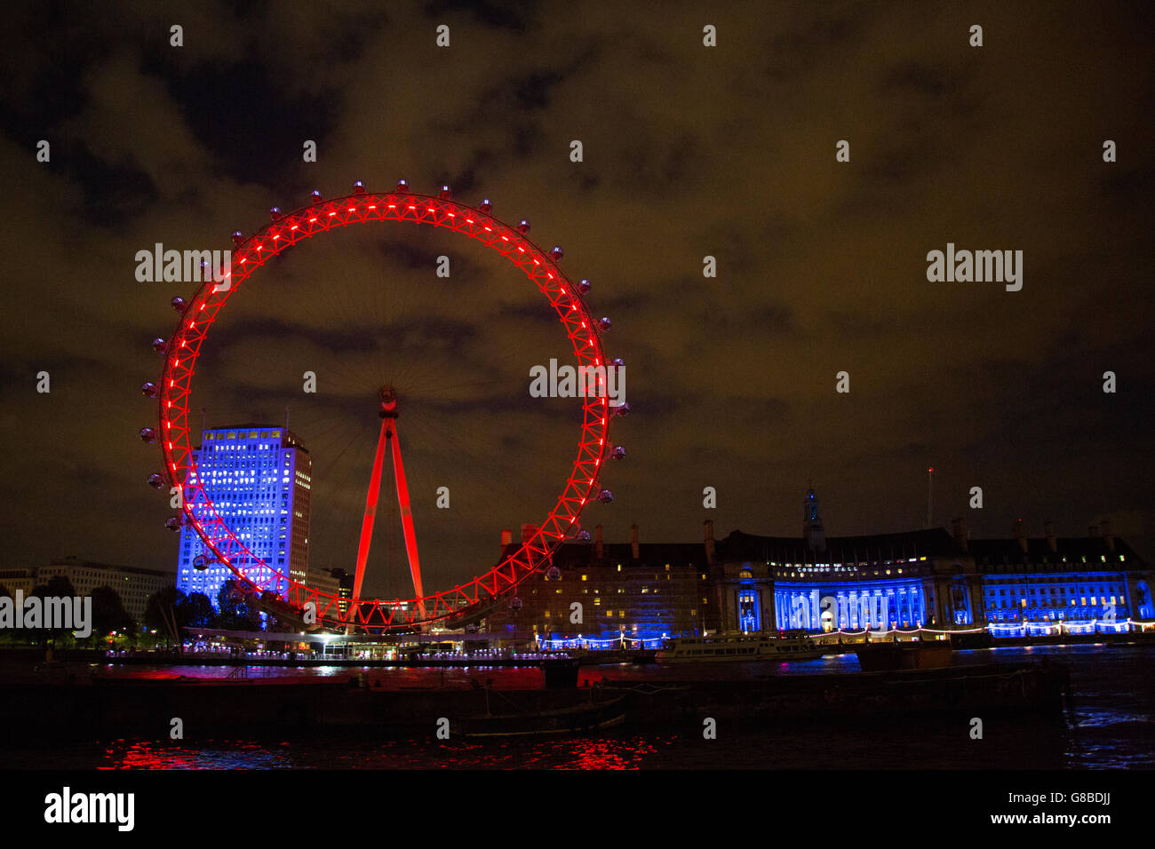 The London Eye, by Night Stock Photo
