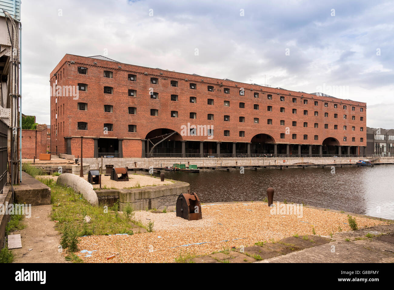 The Titanic Hotel in a converted former warehouse on Stanley Dock in Liverpool North Docks. Merseyside North West Stock Photo