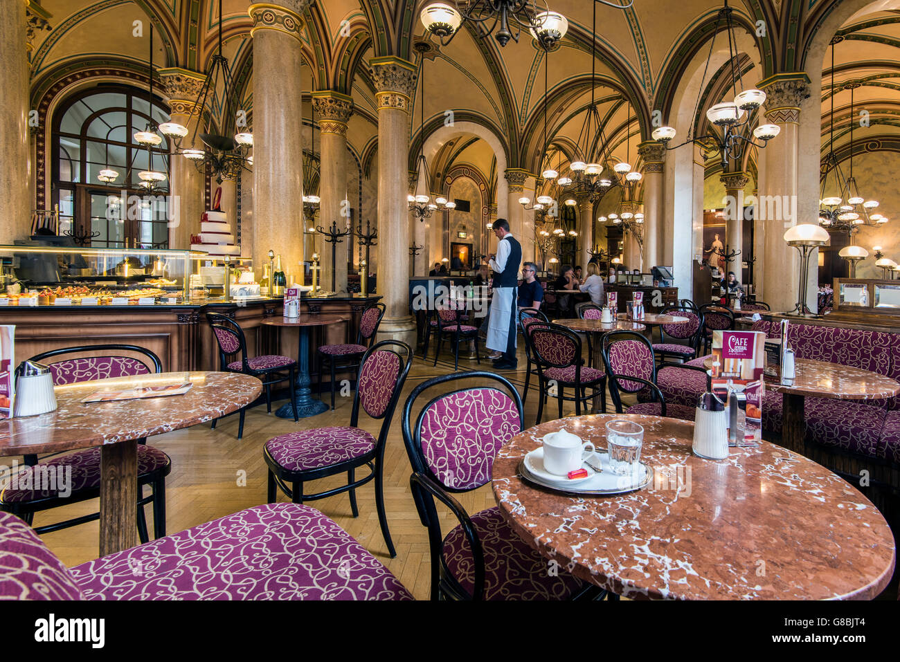 The historic Cafe Central, Vienna, Austria - Stock Image