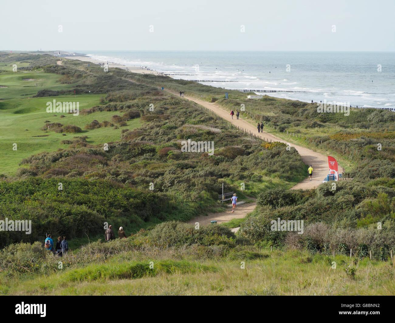 the Dutch North Sea coast near Domburg, Zeeland province - Stock Image