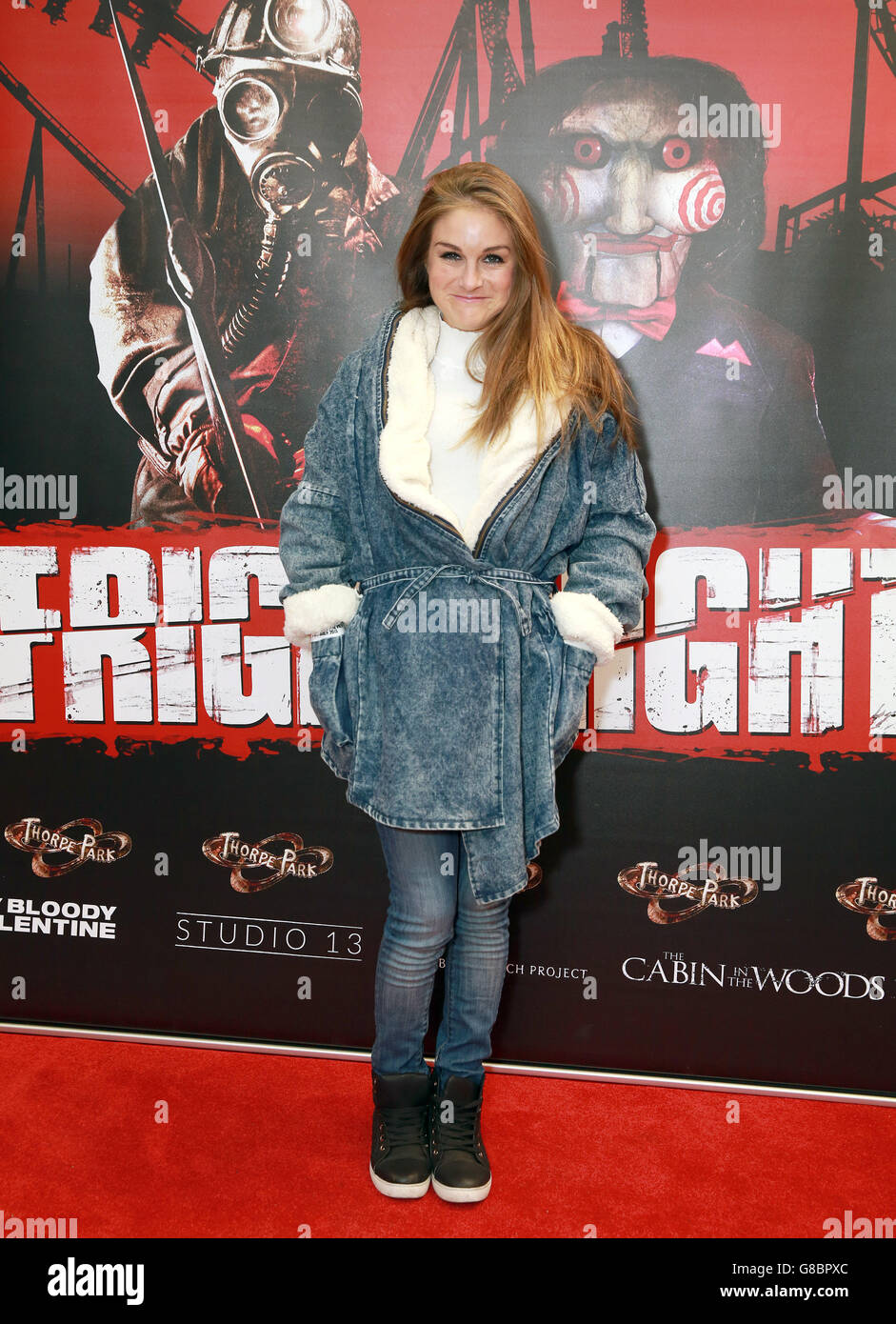Thorpe Park Fright Nights launch - Stock Image