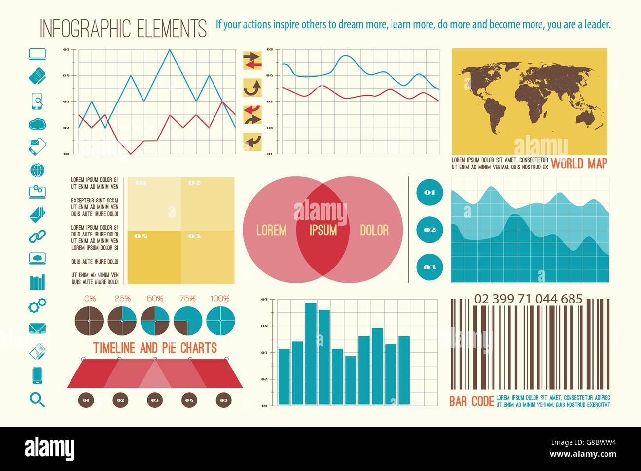 Infographic elements internet technology icons vector time line infographic elements internet technology icons vector time line option graph bar code symbol pie chart info graphic icon e geenschuldenfo Gallery