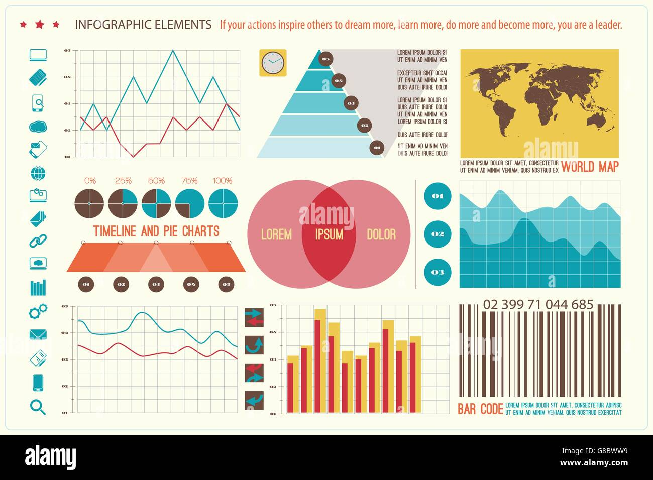 Set of infographic elements web technology icons vector timeline set of infographic elements web technology icons vector timeline option graph bar code symbol pie chart info graphic icon nvjuhfo Image collections