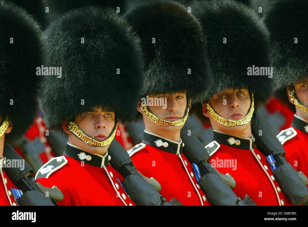 Trooping The Colour Ceremony Stock Photo