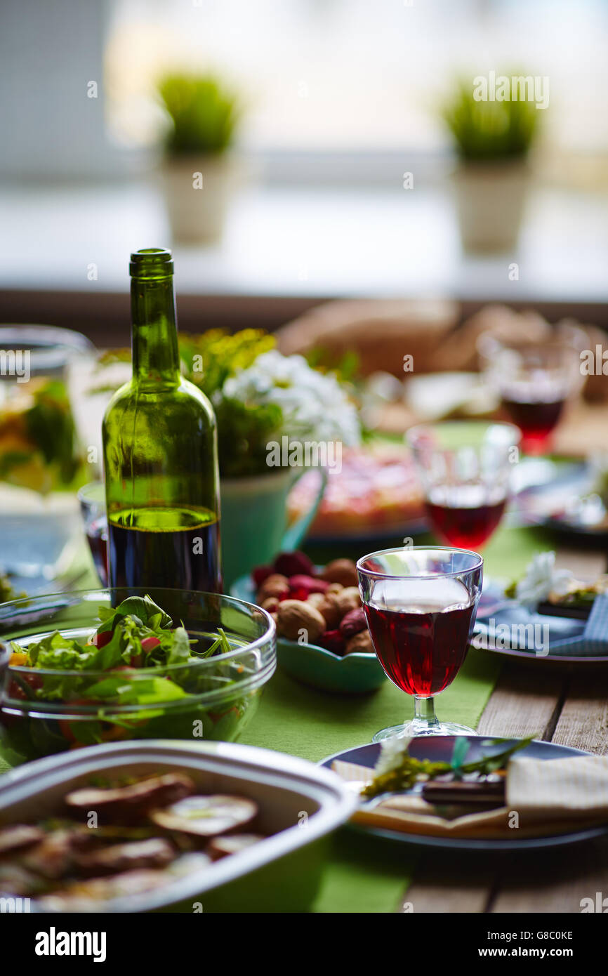 Served for guests - Stock Image