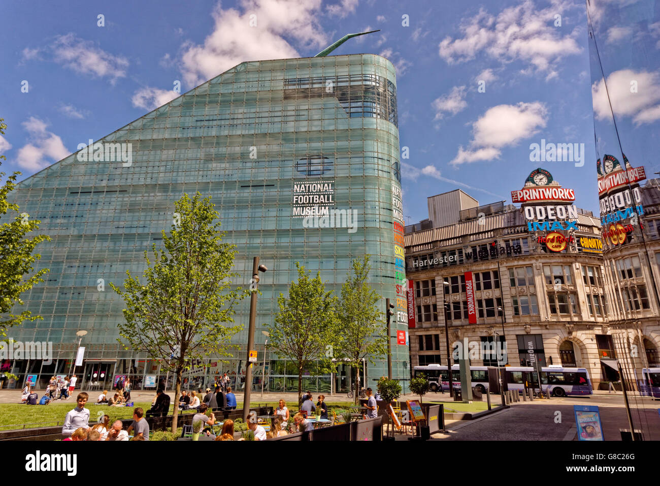 The UK National Football Museum in Manchester City centre, England, UK. - Stock Image