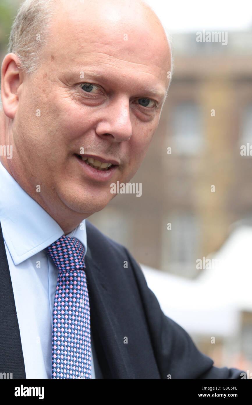London - Jun 27, 2016: Chris Grayling seen at College Green,  Westminster - Stock Image