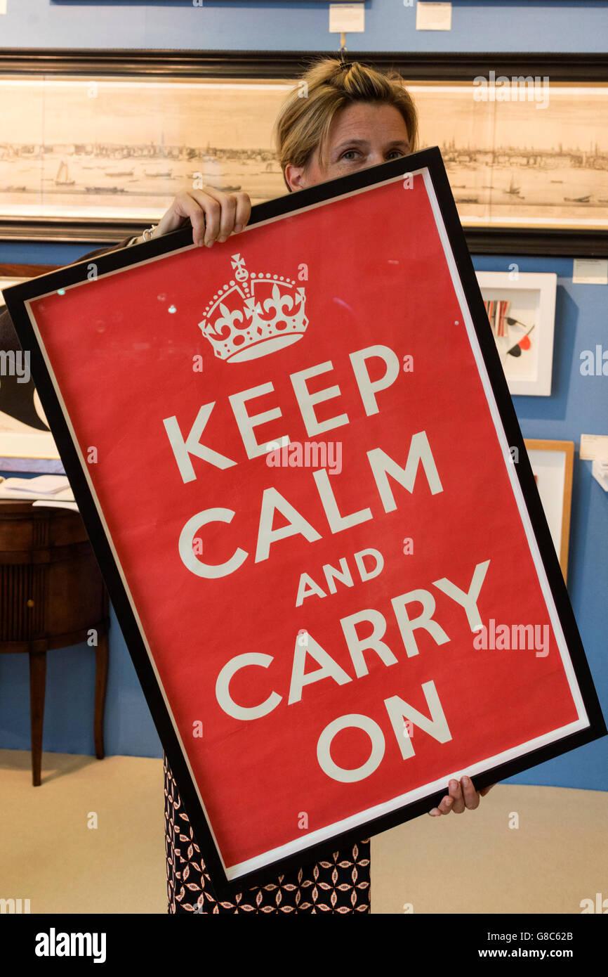 london uk 27 june 2016 the original keep calm carry on poster