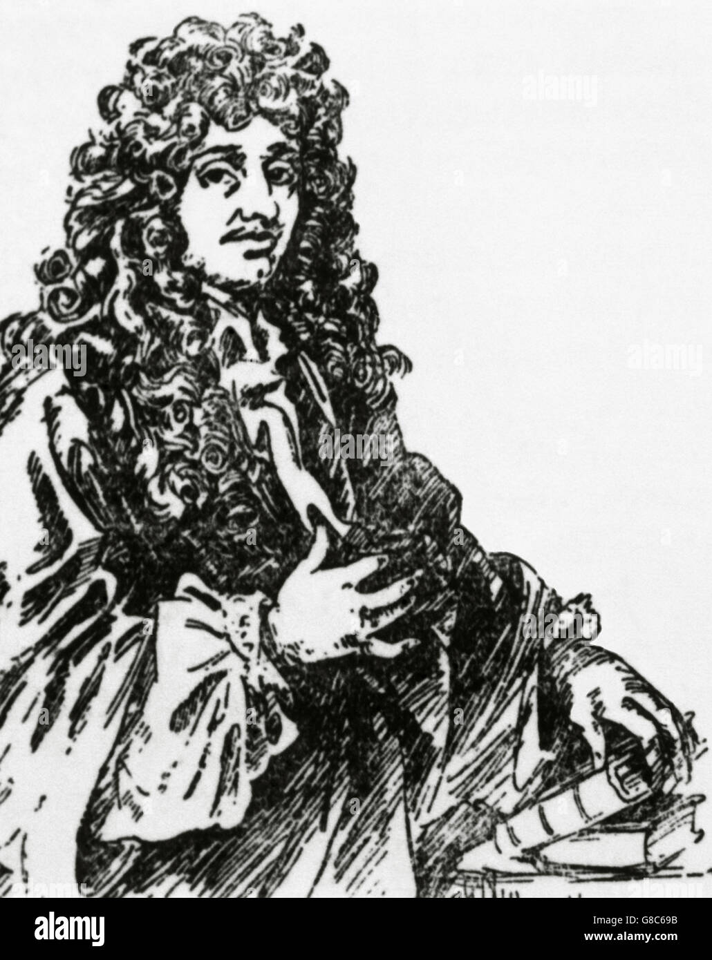 Christiaan Huygens (1629-1695). Dutch mathematician and scientist. He is known particularly as an astronomer, physicist, - Stock Image