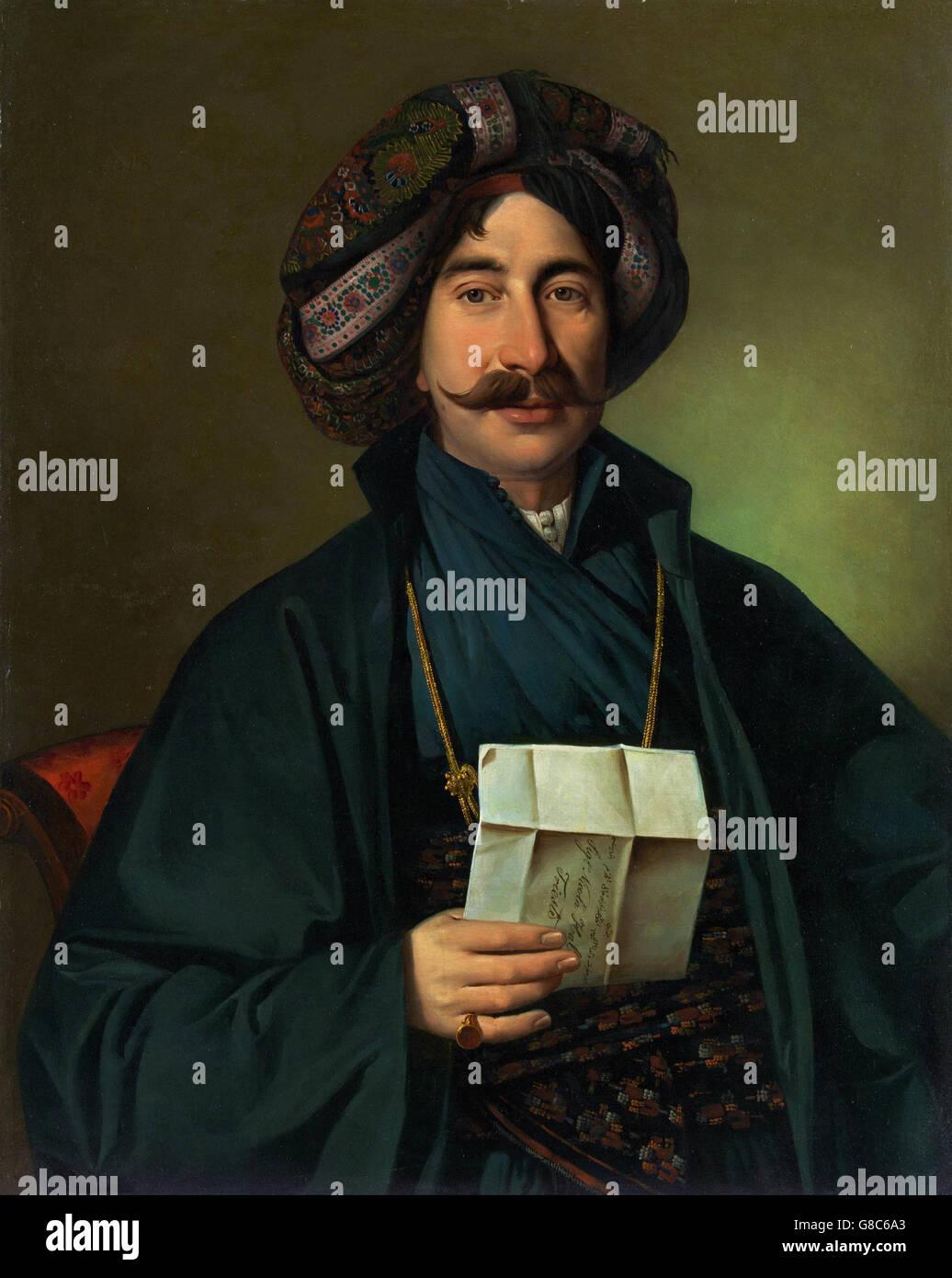 Jožef Tominc - Man in Ottoman dress - Stock Image