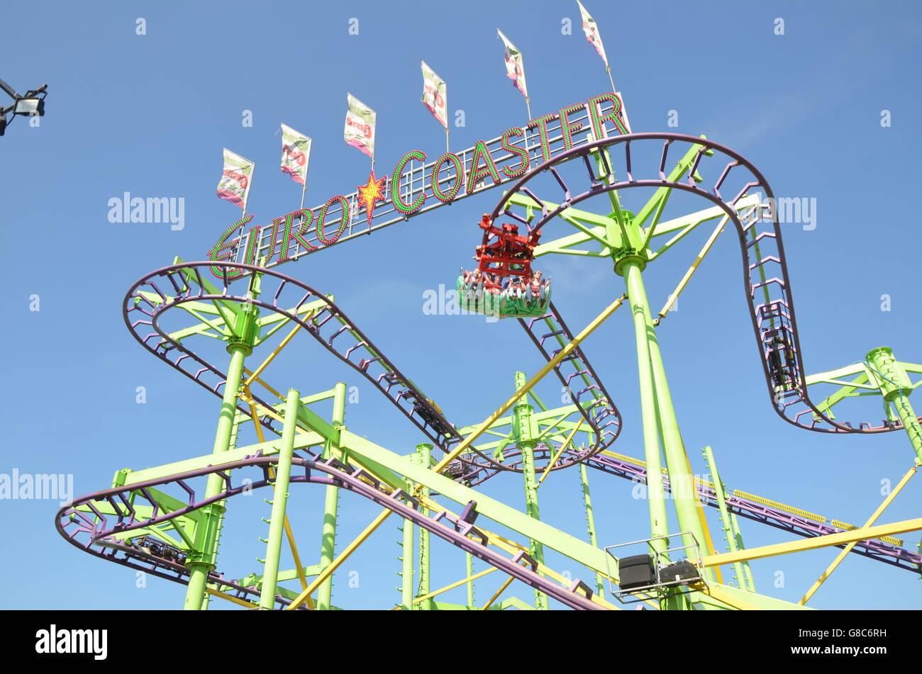 Euro coaster adrenalin, amusement park, - Stock Image