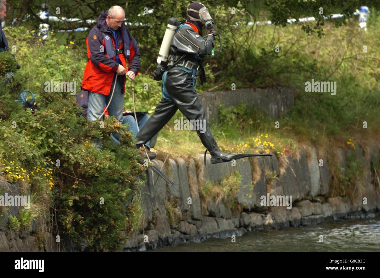 Body Found - Victoria Dock - Stock Image