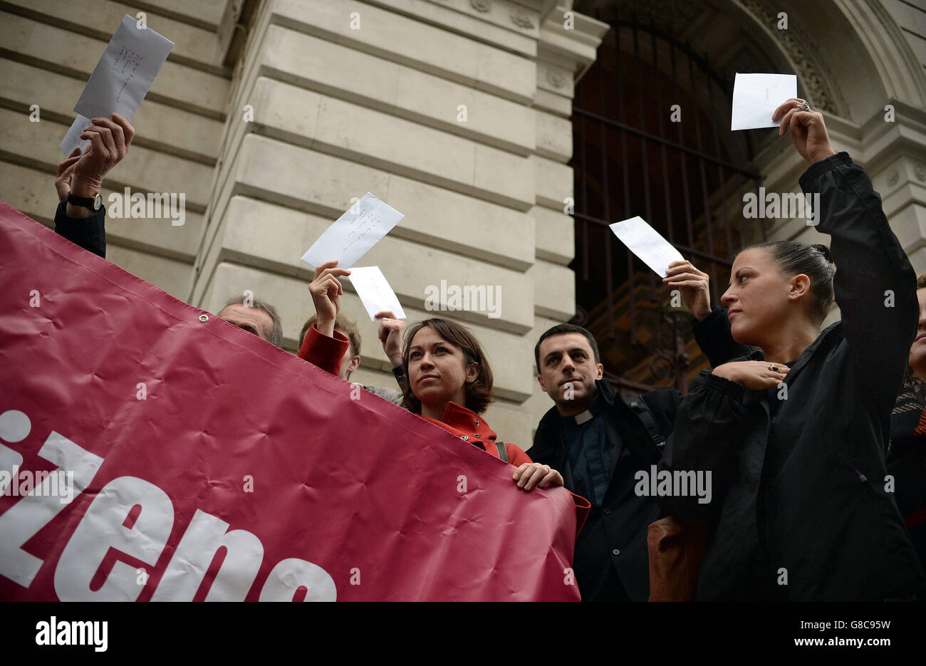 Living Wage protest Stock Photo