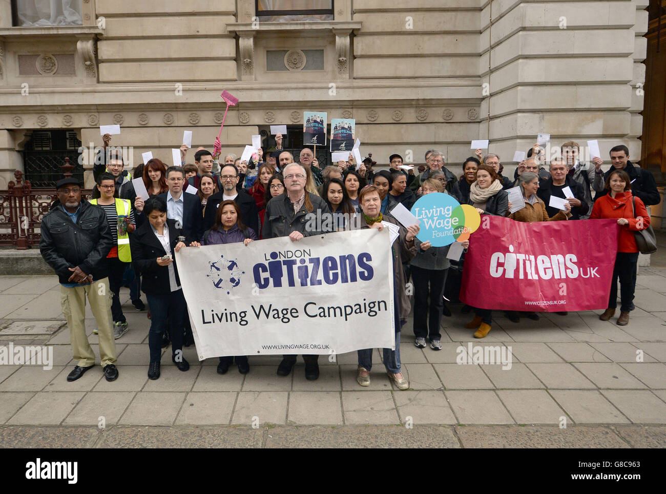 Living Wage protest - Stock Image